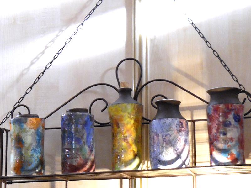 jarres, bouteille et vases