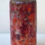 vase de 3Ocm en terre noire émaillée